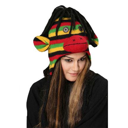 Rasta Monkey Knitted Hat-0