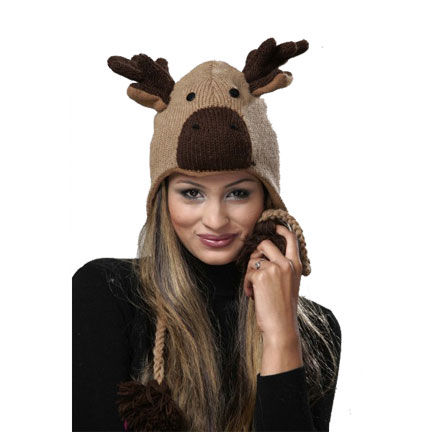 Moose Knitted Hat-0