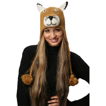 Mountain Lion Knitted Hat-0
