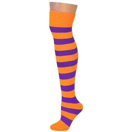 2 Stripe Socks - Orange/Purple-0