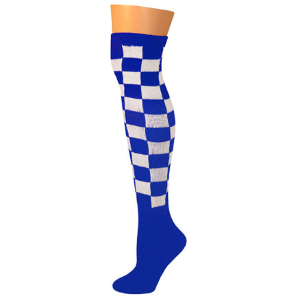 Checkered Socks - Blue/White-0