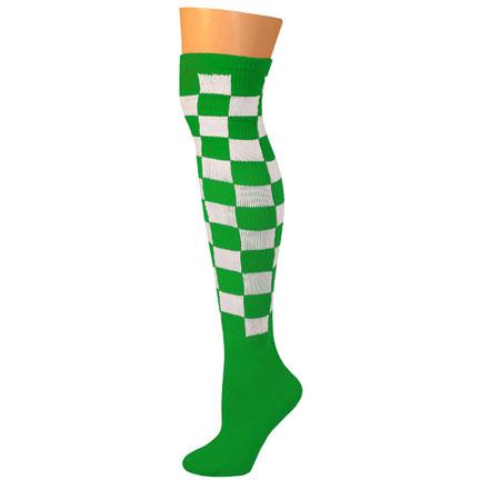 Checkered Socks - Kelly/White-0