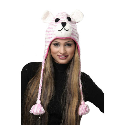 Pink Tiger Knitted Hat-0