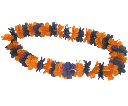 Spirit Lei - Navy/Orange-0