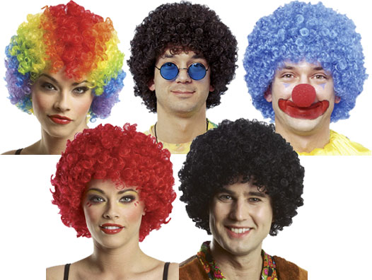 Clown Afro Wig-3714
