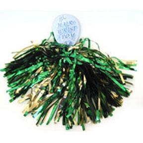 Shimmer Hair/Wrist Pom Green & Gold-0