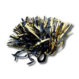 Shimmer Hair/Wrist Pom Navy & Gold-0
