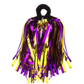 Shimmer Hair/Wrist Pom Purple & Gold-0