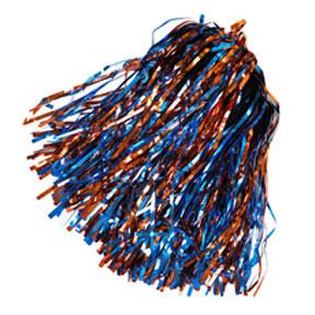 Shimmer Hair/Wrist Pom Red & Royal-0