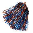 Shimmer Hair/Wrist Pom Red & Royal-11596