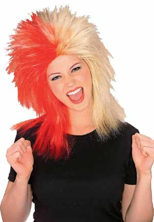 Sports Fanatic Wig - Red/Tan-0