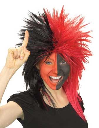 Red/Black Sports Fanatic Wig-0