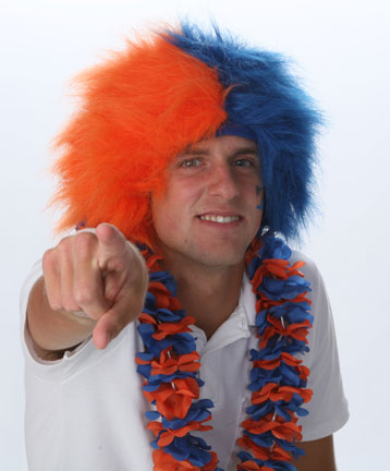 Spirit Wig - Orange/Royal Blue -0