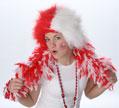 Red/White Spirit Wig-10621