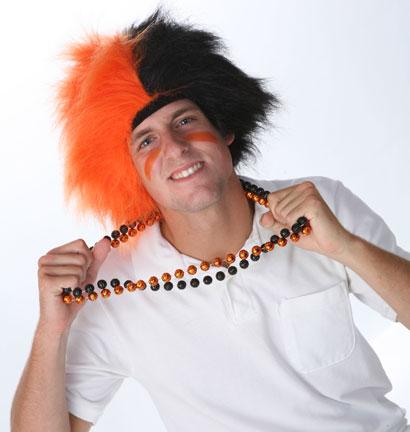 Orange/Black Spirit Wig-0