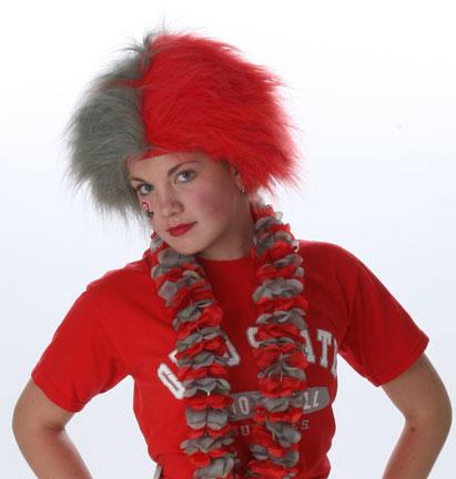 Spirit Wig - Red/Grey-0