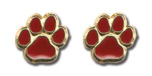 Paw Print Post Earrings-0
