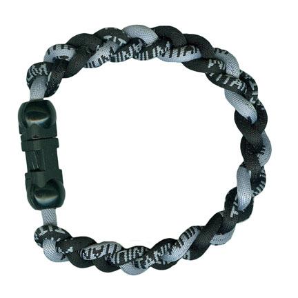 Ionic Bracelet - Black & Silver-0