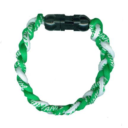 Ionic Bracelet - Green & White-0