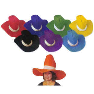 Jumbo Foam Cowboy Hat - Red-10195