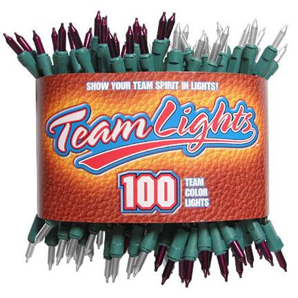 Team Lights - Maroon & White-0