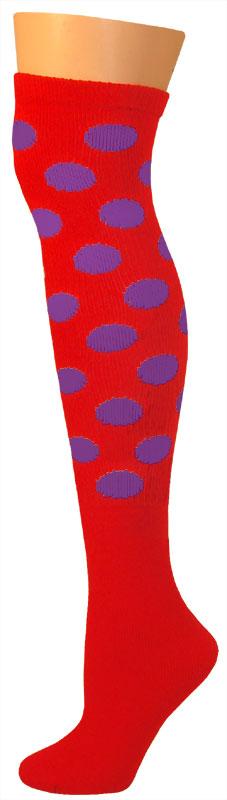 Dots Socks -Red/Purple-0