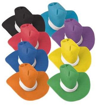 Jumbo Foam Cowboy Hat - Orange-0