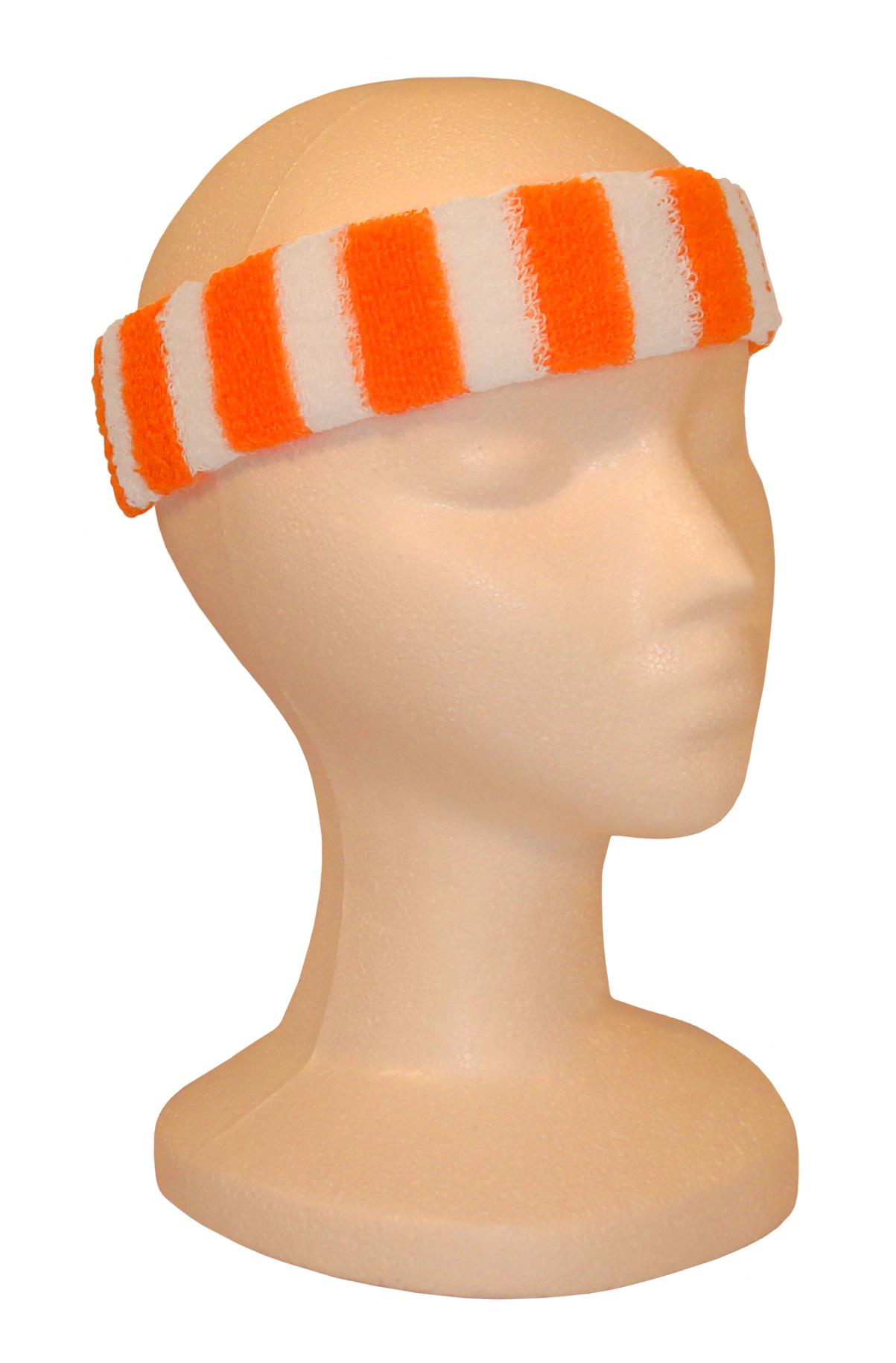 Wristbands - Neon Orange/White-0