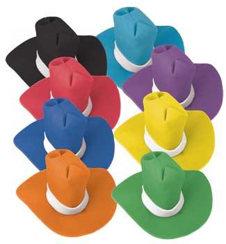 Jumbo Foam Cowboy Hat - Light Blue-0