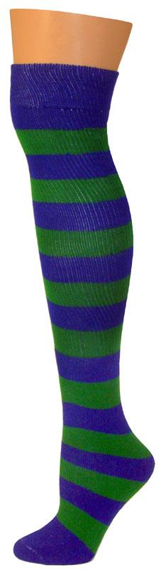 2 Stripe Socks - Blue/Kelly-0