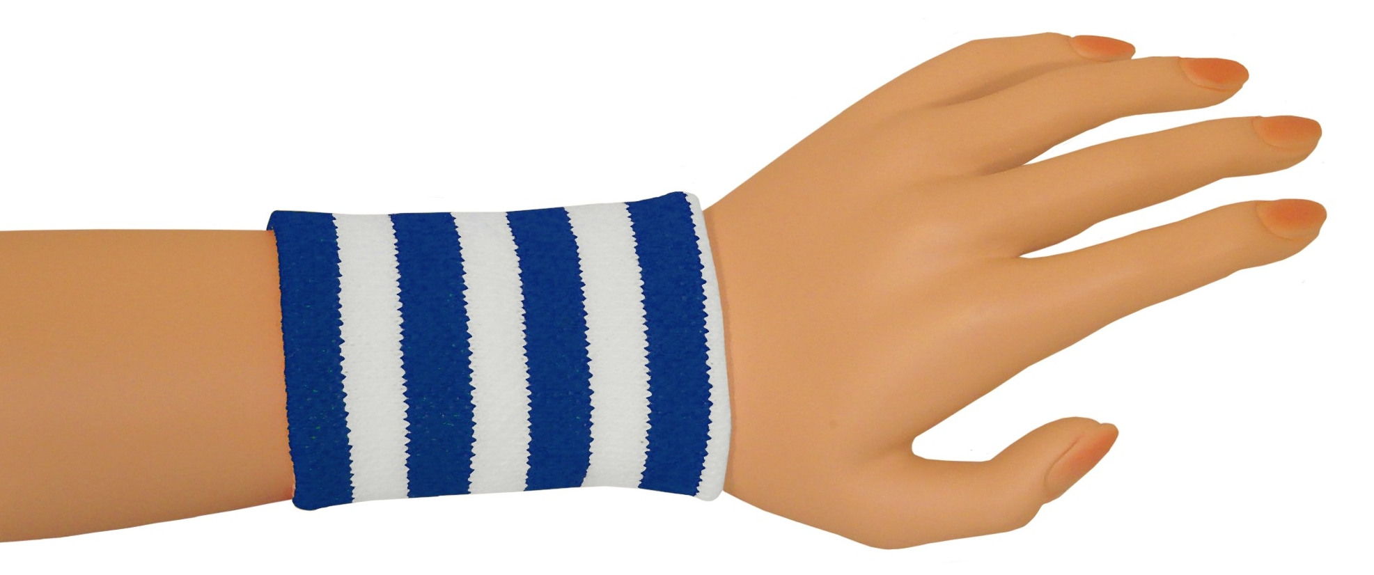 Wristbands - Blue/White-0