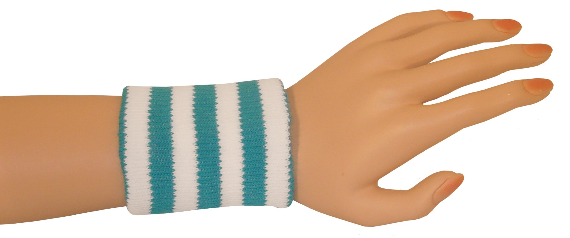 Wristbands - Turquoise/White-0