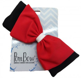 Pom Hairbow - Black Red & White-0