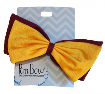 Pom Hairbow - Burgundy & Yellow Gold-0