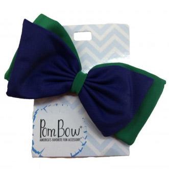 Pom Hairbow - Bottle Green & Navy-0