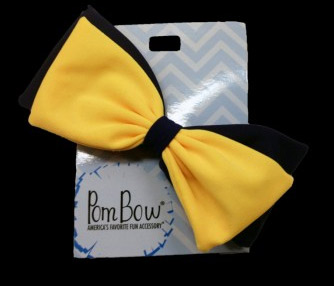 Pom Hairbow - Navy & Sunshine-0