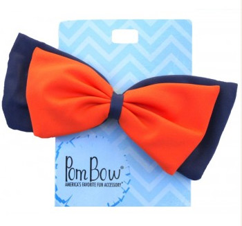 Pom Hairbow - Fanta Orange & Navy-0