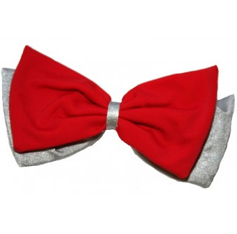 Pom Hairbow - Perla Grey and Red-0