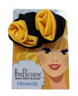 Pom Blossom Black & Yellow Gold Team Color Hair Clip-0