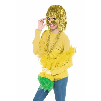 Team Color Tinsel Wig - Yellow-0