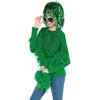 Team Color Tinsel Wig - Green-0