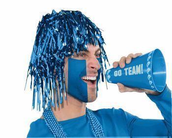 Team Color Tinsel Wig - Blue-0