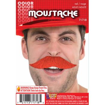 Team Color Moustache - Red-0