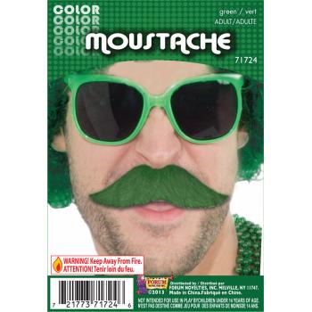 Team Color Moustache - Green-0