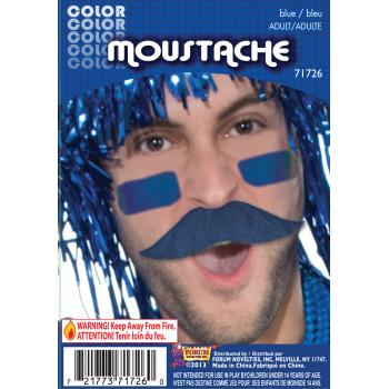 Team Color Moustache - Blue-0
