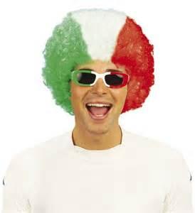 Italian Afro - Red, White & Green-0