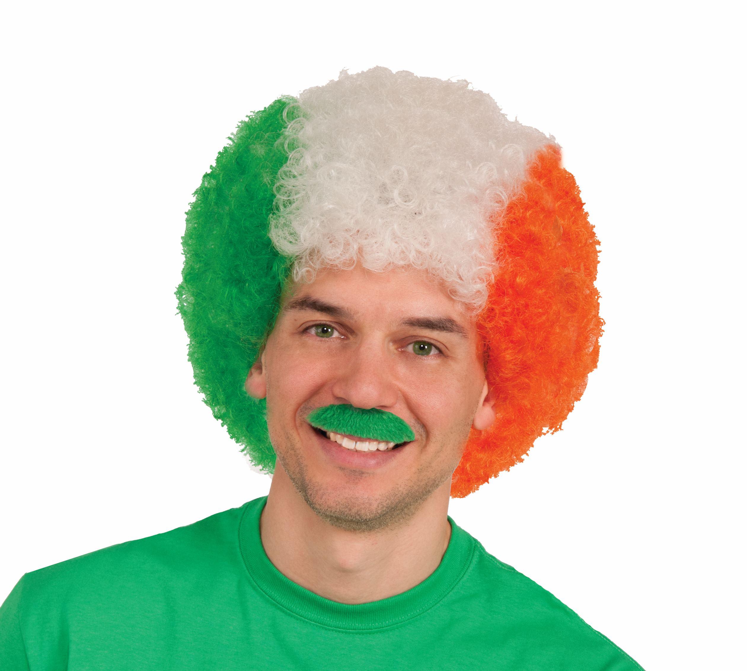 Irish Afro - Green, Orange & White-0