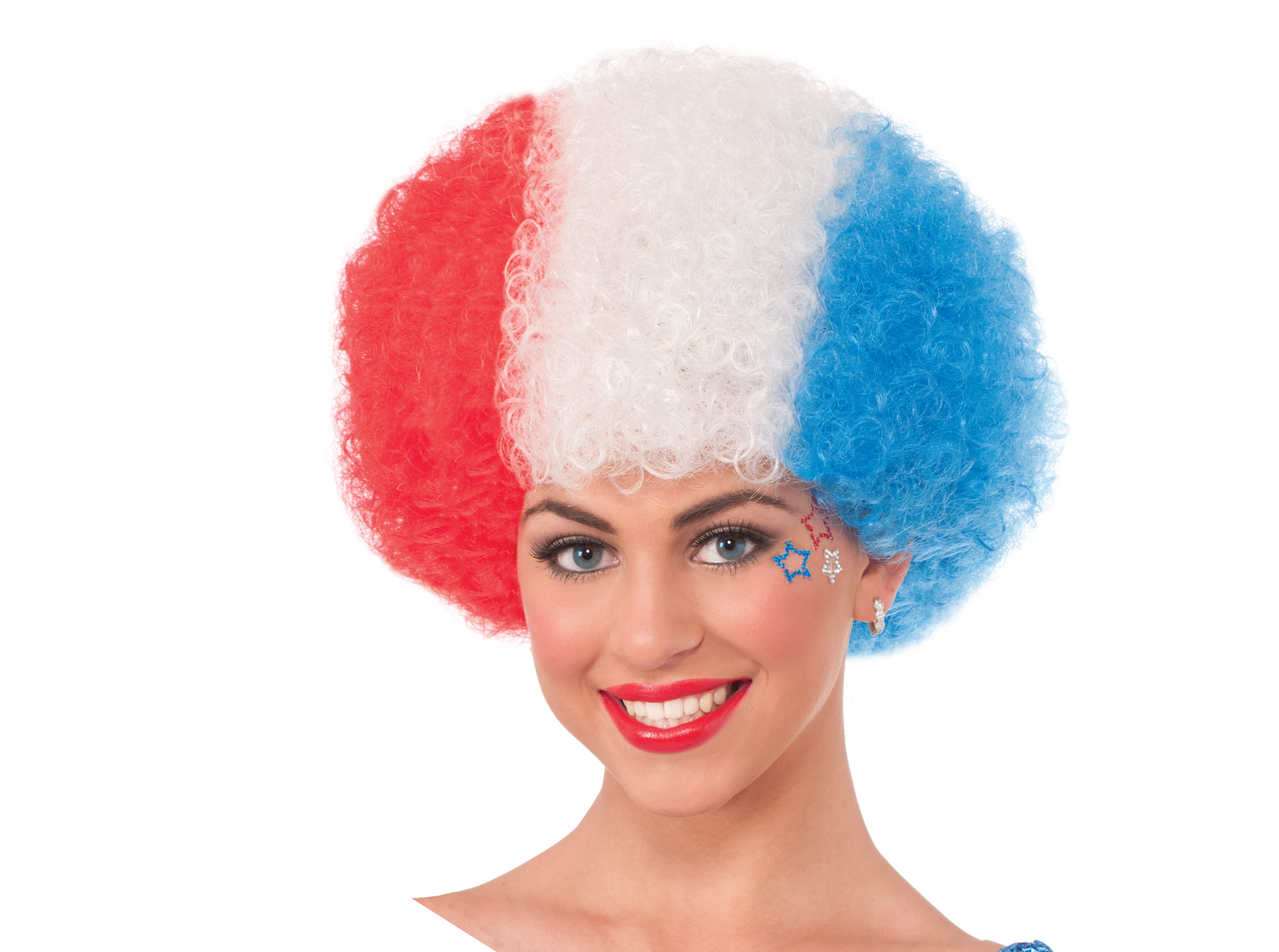 U.S.A. Afro - Red, White & Blue-0