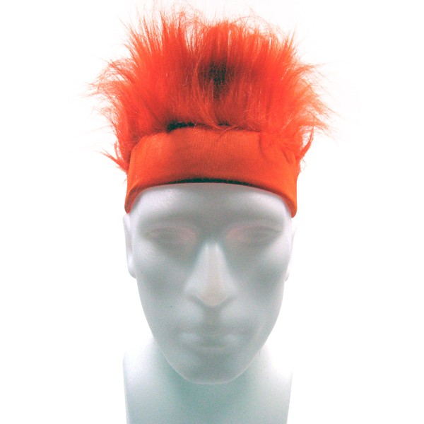 Furry Headband - Orange-0