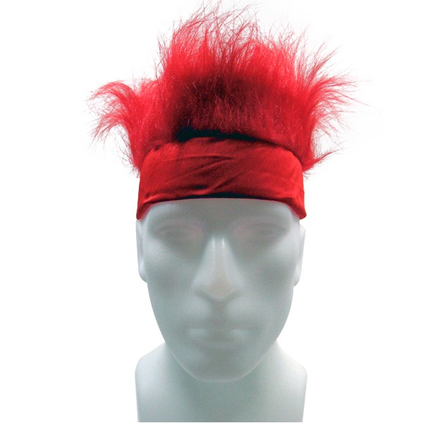 Furry Headband - Red-0